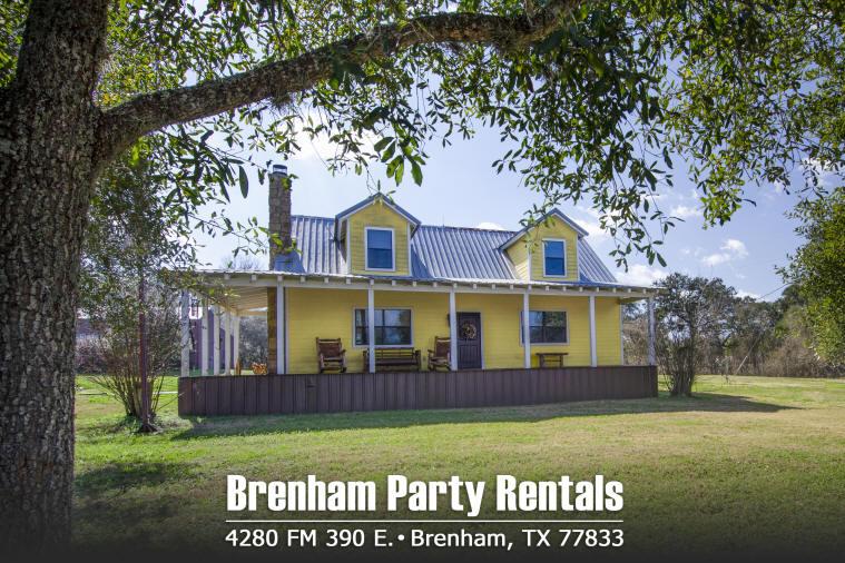 Brenham Party Rentals - 4280 FM 390 - Main Text