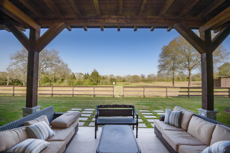 Outdoor Seating Area and Patio on Residential Property