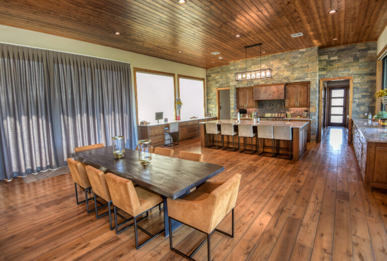 Wooden Floored Living and Dining Area - Texas Real Estate