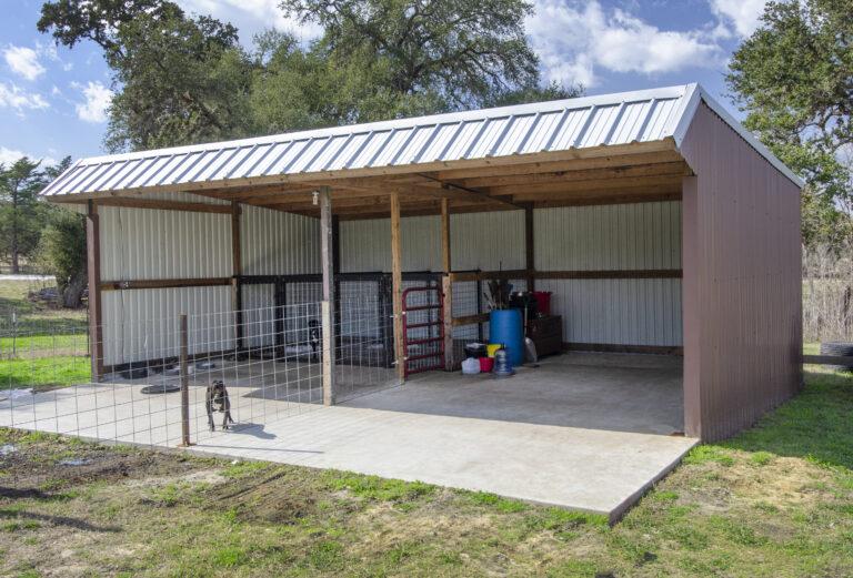 Dog barn on texas property