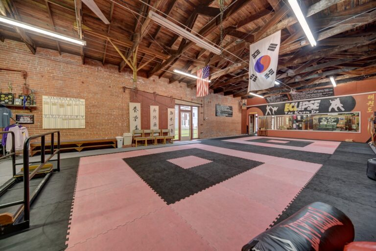 Side View of Dojo in Southern Pacific Depot