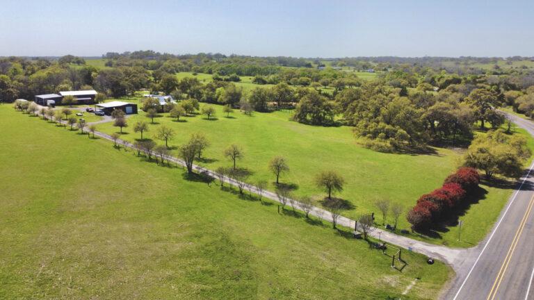Drone Aerial Main Brenham Commercial Real Estate