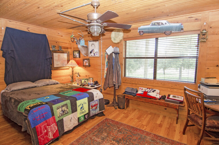 Wooden bedroom with car theme