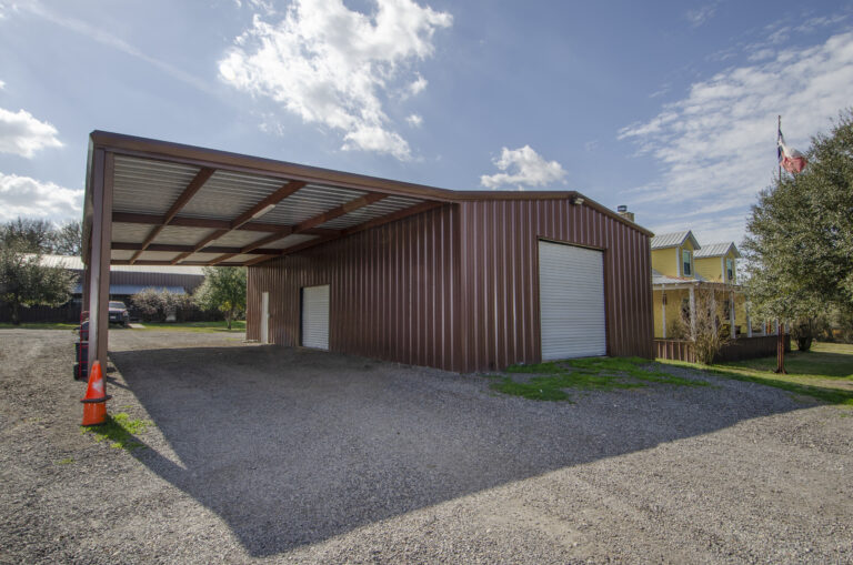 Brenham Party Rentals party barn with overhang
