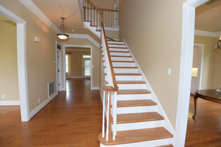 Entry hall stairs leading to the second floor