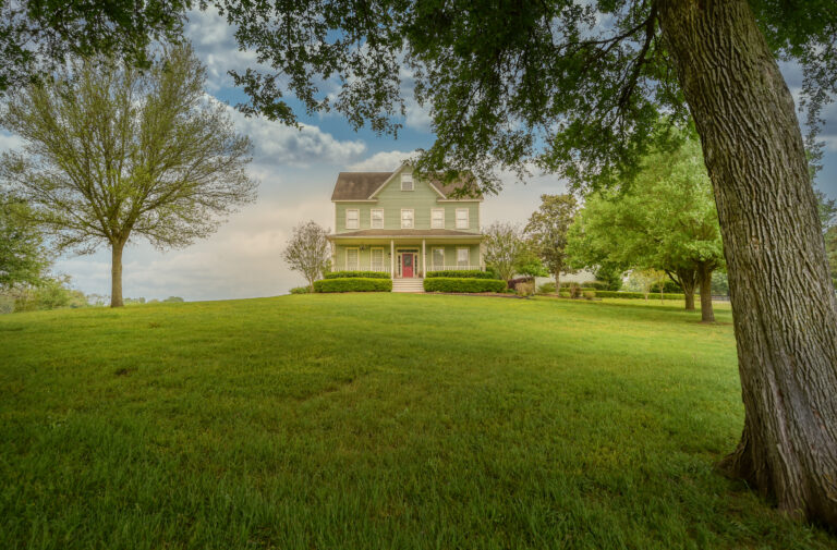 Exterior of Home with Meadow