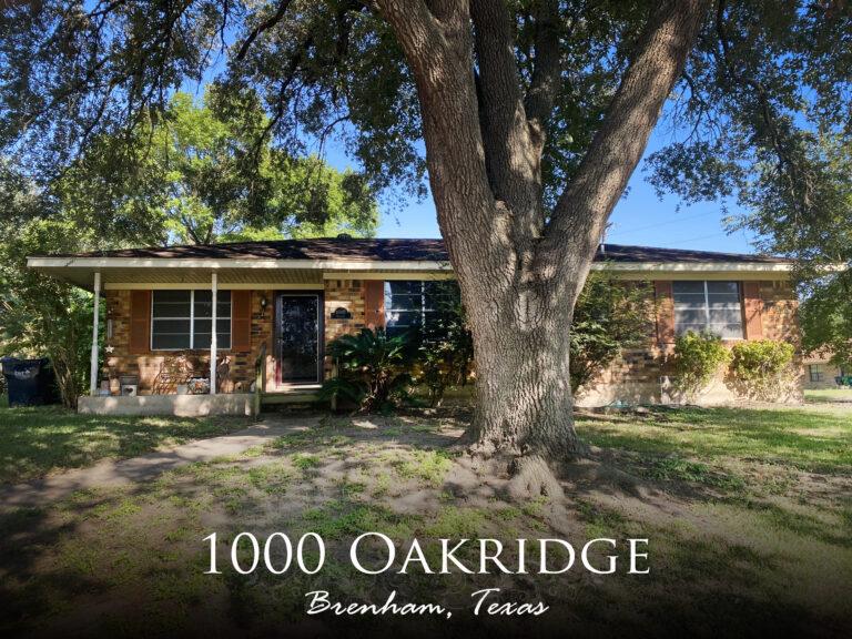 1000 Oakridge Street